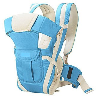 JOHN RICHARD Adjustable Hands-Free 4-in-1 Carry bag Comfortable Head Support Buckle Straps waist Belt (Sky Blue)
