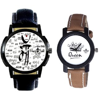 Maa All Language Print Dial And Queen Leather Strap Analogue Watch By Gujarat Hub