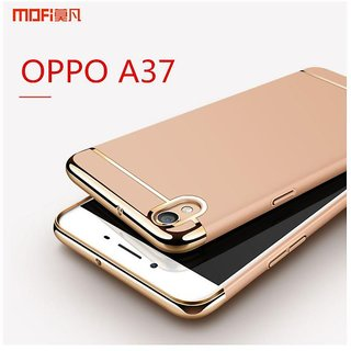 Oppo A37 Plain Cases ClickAway - Rose Gold with free selfie stick