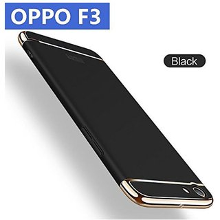 Oppo F3 Hybrid Covers BBR - Black
