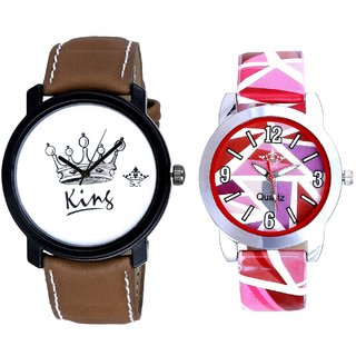 Taj Art And Pink Sep Leather Strap  Analogue Watch By Google Hub