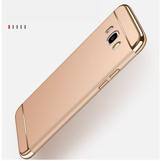 Samsung J7-6 Plain Cases ClickAway - Rose Gold with free selfie stick