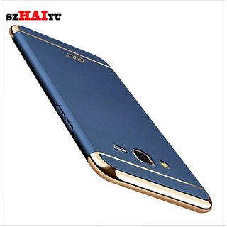 Samsung Galaxy J7 Plain Cases ClickAway - Blue with free selfie stick