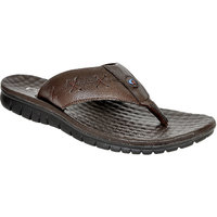 Allen Cooper ACLS-254 Brown Leather Slippers For Men
