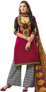 Hrinkar Multicolor Cotton Printed Salwar Suit Dress Material (Unstitched)