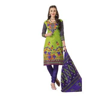 Hrinkar Multicolor Cotton Printed Salwar Suit Dress Material (Unstitched)