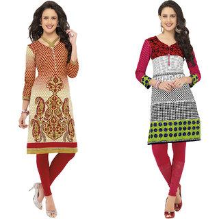 Hrinkar Multicolor Cotton Printed Kurta Dress Material (Unstitched)