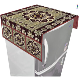 Nisol Brown Mandala Fridge Top Cover