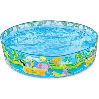 Children Kids Intex Snap Set Paddling Water Fun Pool - 5 feet (Colour  Design May Vary)