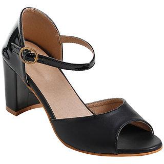 Glitzy Galz Heels for Women Black Heels