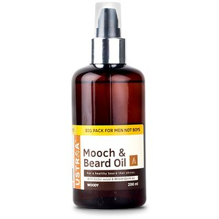 Ustraa Mooch & Beard Oil For Men, 200 ML
