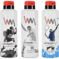 LAWMAN PG3 Winger , Flicker , Challenger Deodorant Spray - For Men  (210 ml, Pack of 3)