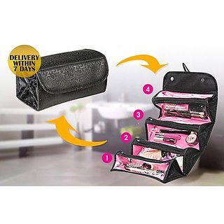 Roll N Go Black Cosmetic Bag