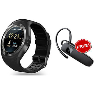 Bluetooth Smart Watch Compatible With All 3G , 4G Phone With Camera And Sim Card Support + Bluetooth Handfree Combo