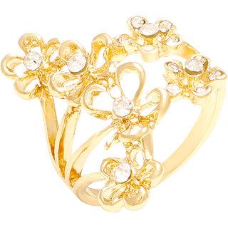 Memoir Gold Plated Gold Brass & Copper Ring for Women's