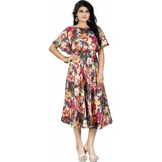 HSFS WOMAN'S DIGITAL PRINTED DRESS