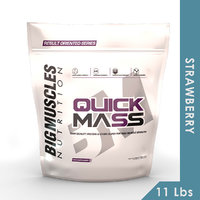 Big Muscles Quick Mass 11 Lbs (Strawberry)