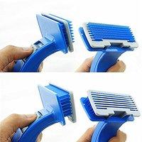 Jainsons Dog Plastic Slicker Brush With Press Key - Medium