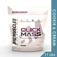 Big Muscles Quick Mass 11 Lbs (Cookie  Cream)