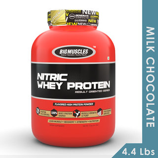 Big Muscles Nitric Whey 4.4 Lbs (Milk Chocolate)