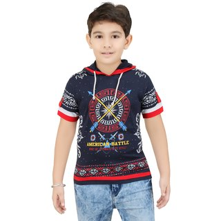 colour kids boys half sleeves t shirts with hood - Pictures To Colour For Boys
