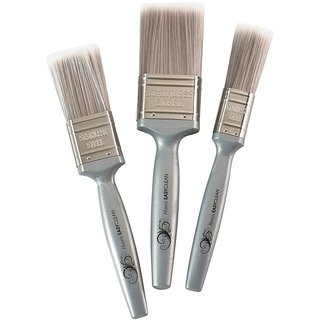 S4D 1 in., 1.5 in. and 2 in. Flat Easyclean Paint Brush Set (3-Pack)