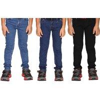 Guchu Boys Jeans(2-8yrs) Combo Pack of 3 (1Denim Blue, 1Dark Blue & 1Black)