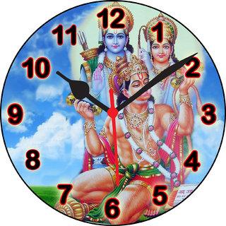 3d ramji sitaji hanumanji wall clock