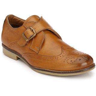 Buy Hirels Tan Monk Strap Brogue Shoes Online Get 53 Off