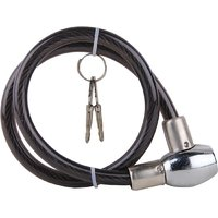 HELMET CABLE LOCK STEEL FOUR SQUARE with 2 KEYS
