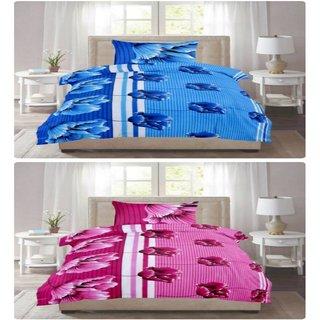 Cotton Bedsheet (KHF Premium Cotton Set of 2 Single Bedsheet, 2 Pillow Cover) Size- Bedsheet 90x60 inch., Pillow Cover 17x27 inch.