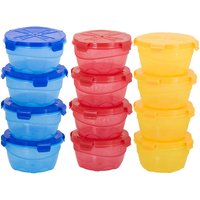Sellebrity Combo Four Lock Pack of 12- 4 Blue,4 Red,Yellow Plastic Container