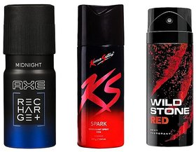 Super Save Deal- Axe deo.Ks deo and Wildstone deo body spray