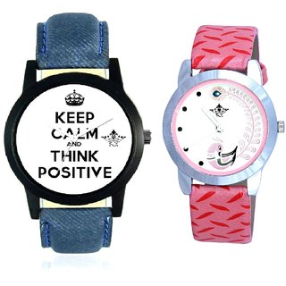 Men Thinking And Pink Peacock Feathers Girls Analogue Watch By Ganesha Exim