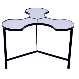Mani Creations Multicolor Iron + Marble Table / 80x77x44