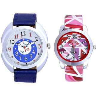 Exclusive Blue Dial And Pink Sep Leather Strap  Analogue Watch By Taj Avenue