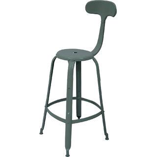 Mani Creations Brown Color Iron Bar Chair / 44x50x117