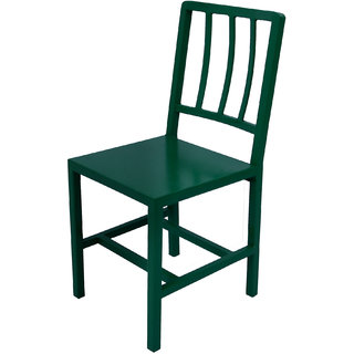 Mani Creations Dark Green Color Iron Chair / 40x45x90