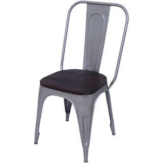 Mani Creations Multicolor Iron + Wooden Chair / 42x42x92