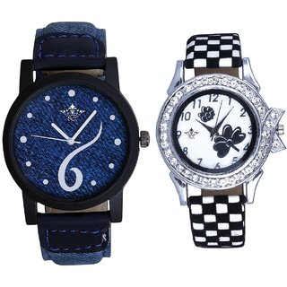 Six Art And Black-White Strap Girls Analogue Watch By Ganesha Exim