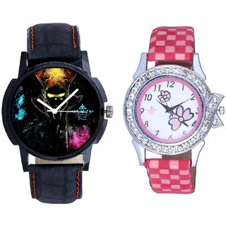 Bhoot Colouring Dial And Pink Strap Girls Analogue Watch By Ganesha Exim