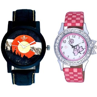 Mount Themes And Pink Strap Girls Analogue Watch By Ganesha Exim