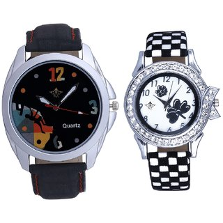 Mount Themes Goal Achived Art And Black-White Strap Girls Analogue Watch By Ganesha Exim
