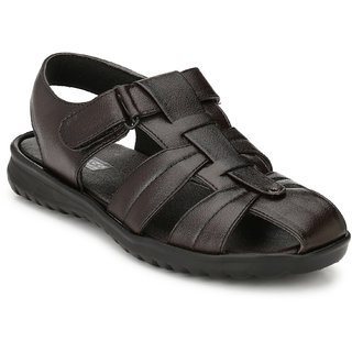 White Walkers Men's Brown Synthetic Leather Sandals