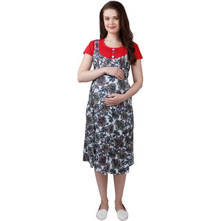 Ruby Red Maternity Dress