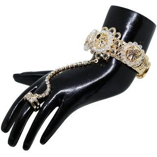 DnO Designer Ring Bracelet for women in Golden Color