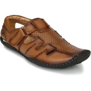 Buy El Paso Men's Tan Synthetic Leather