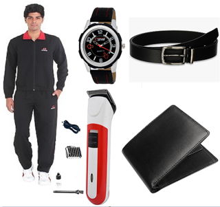 Combo of Tracksuit , Trimmer , Watch , Wallet and Belt 2