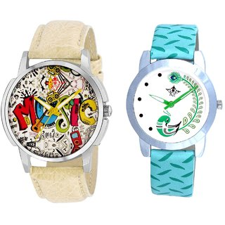 Rocking Sound And Green Peacock Feathers Girls Analogue Watch By SCK