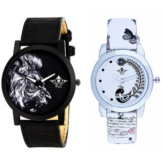 King Of Jungle And White Peacock Feathers Girls Analogue Watch By SCK